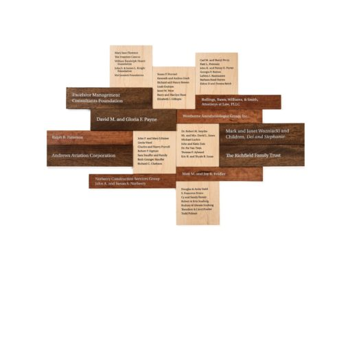 Donor Walls Recognition Displays - Multi Level Wood Donor Wall
