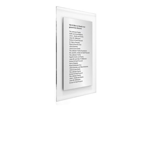 Donor Wall Plaques - Acrylic Donor Wall Holds 25 Donor Names
