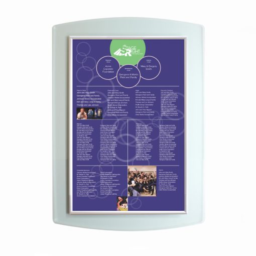 Donor Wall - Easy To Update- Acrylic - The Easy Frame Donor Wall can be customized to your organizations brand and donor names can be added easily and economically.