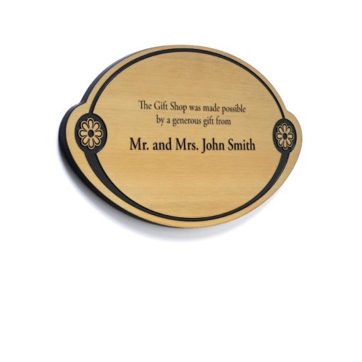 Memorial Plaque - Brass Donor Plaque With Etched Donor Names