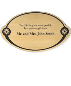 Memorial Plaque - Etched Brass Donor Plaque - Donor Plaques are a great way to increase visibility to your fundraising campaign. This plaque is affordable and can be ADA compliant.