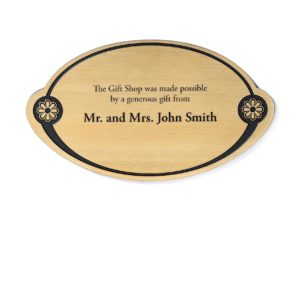 memorial plaques - Etched Brass Donor Plaque - Donor Plaques are a great way to increase visibility to your fundraising campaign. This plaque is affordable and can be ADA compliant.