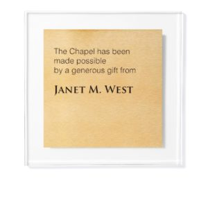 Donor Plaque - Printed Names - This plaque is affordable and can be ADA compliant.