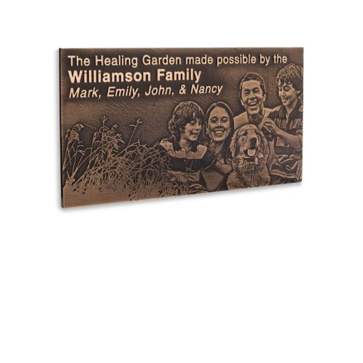 Bronze Plaques - Combine Your Image With Text