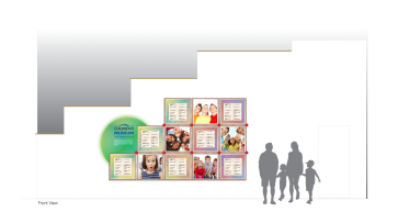 children museum donor wall idea - design concept