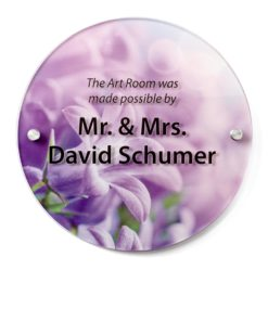 in memory of plaque - Circle Donor Plaque with Art