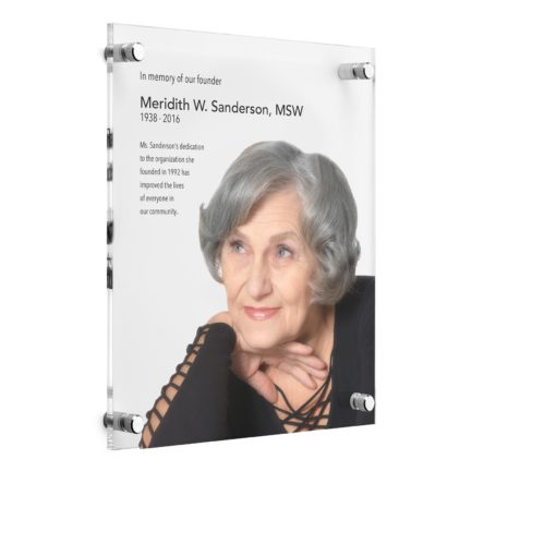 Custom Photo Plaques - Acrylic Memorial Plaque