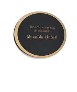 Oval Etched Donor Plaque - Etched Donor Plaque