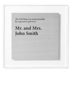 donor recognition signs - Acrylic Donor Plaque With Metal