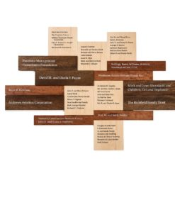 Donor Walls Recognition Displays - Wood Donor Wall For Annual Campaigns