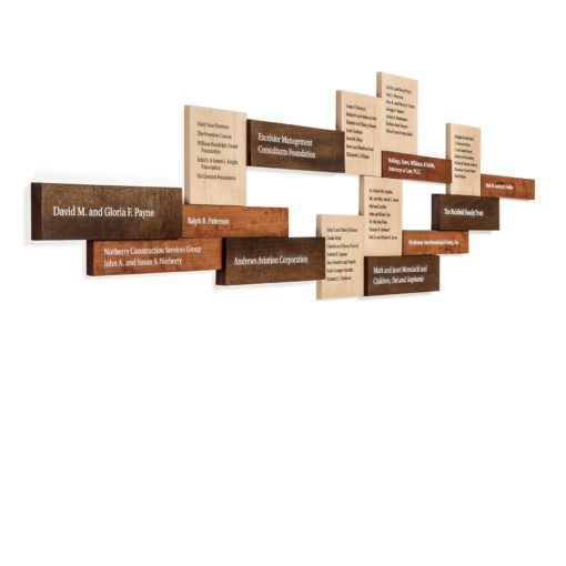Wood Donor Wall - Donor Walls Recognition Displays