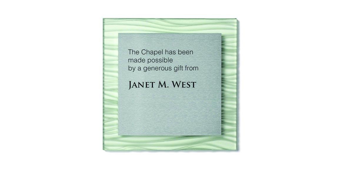 donor recognition plaque