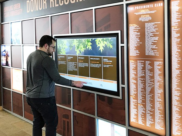 Interactive DONOR RECOGNITION WALL