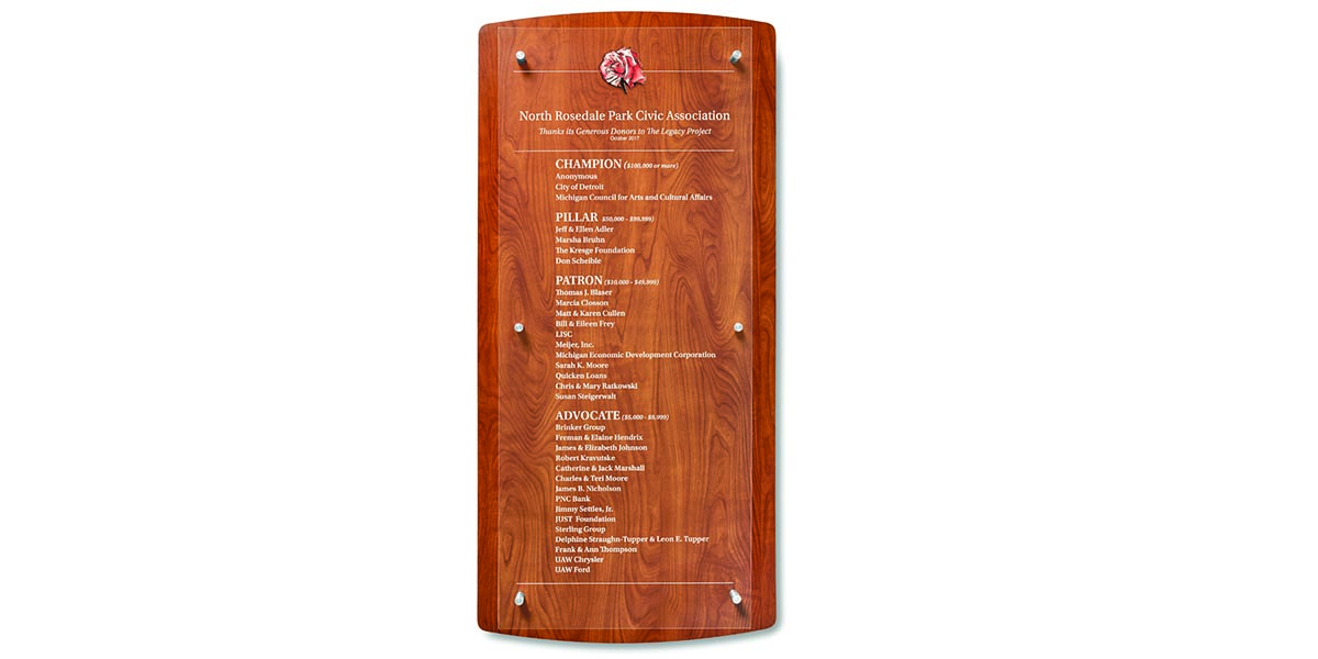 wood donor wall