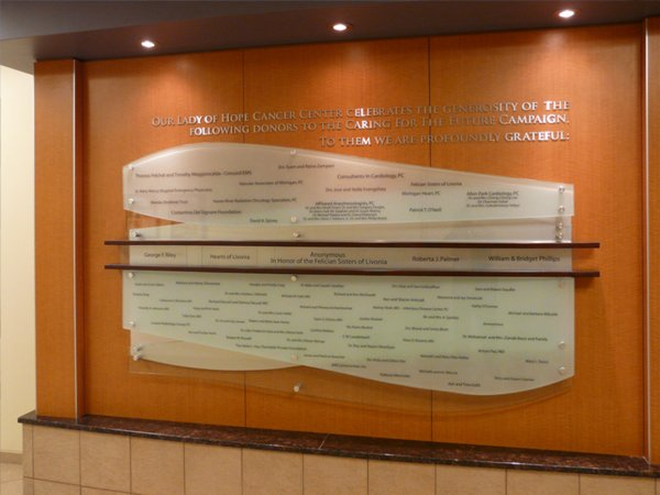 DONOR RECOGNITION WALL