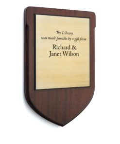 wood recognition plaque