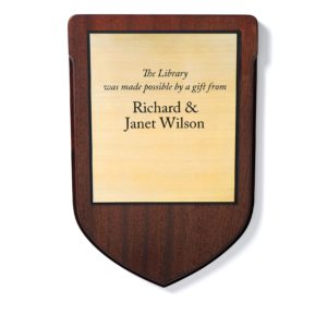 wood donor plaque