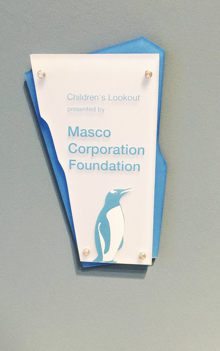 Several plaques were made to recognize a variety of donors whose gifts ranged from $50,000 - $20,000,000. These plaques were designed to have a cohesive look with the overall design of the facility.